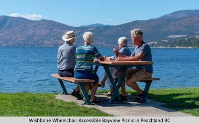 Wishbone Wheelchair Accessible Bayview Picnic in Peachland BC